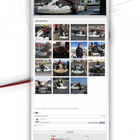 Kol Bailey Kart Racing Website - Walters Web Design