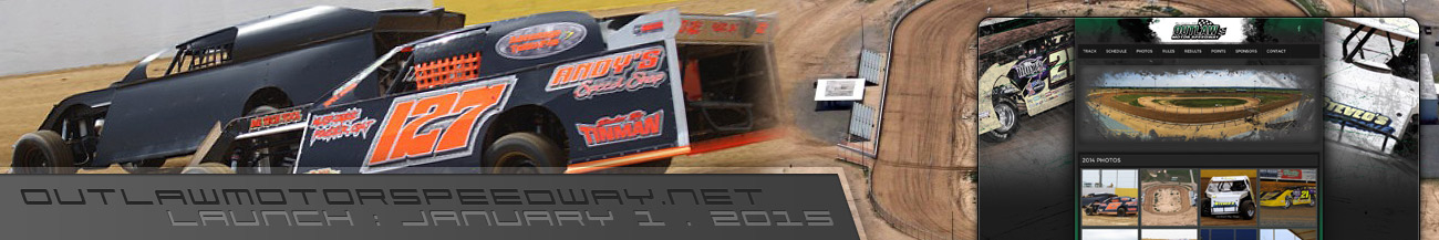 Outlaw Motor Speedway Dirt Track Website Walters Web Design