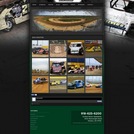 Outlaw Motor Speedway Website Design - Walters Web Design