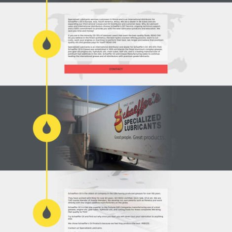 Shaeffer's Specialized Lubricants Website - Walters Web Design