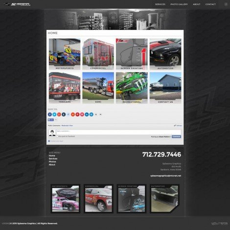 Sybesma Racing Graphics Website Design - Walters Web Design