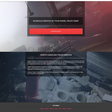 Triple H Diesel Website Design - Walters Web Design
