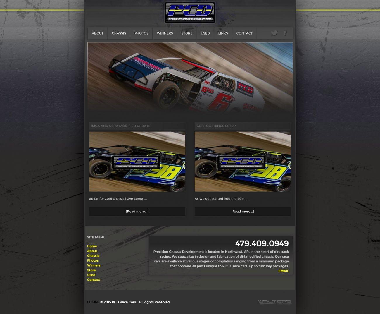 PCD Race Cars Website Launch - Walters Web Design