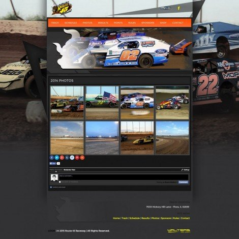 2015 Route 45 Raceway Website Design - Walters Web Design