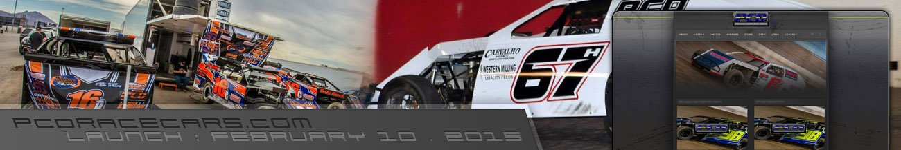 PCD Race Cars Website Walters Web Design