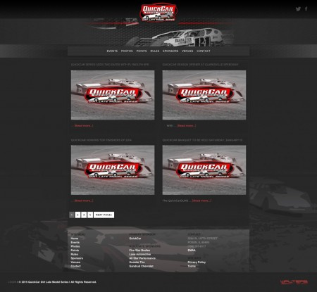 QuickCar Dirt Late Model Series Website Design - Walters Web Design