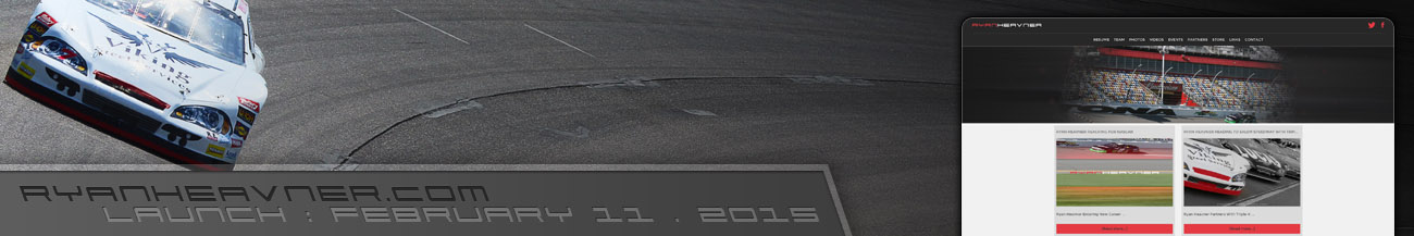 Ryan Heavner ARCA Racing Series Driver Website Walters Web Design