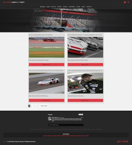 Ryan Heavner Racing ARCA Racing Series Driver Website - Walters Web Design