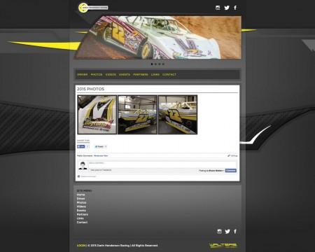 Darin Henderson Crate Late Model Driver Website Design - Walters Web Design