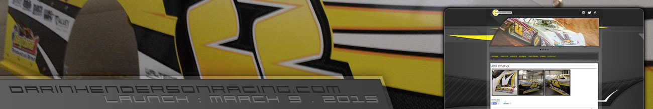 Darin Henderson Racing Crate Late Model Driver Website Design Walters Web Design