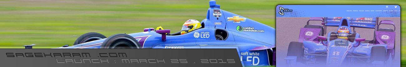 Sage Karam Indycar Driver Website Walters Web Design