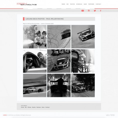 Dion von Moltke Audi IMSA Tudor Sports Car Driver Website Design