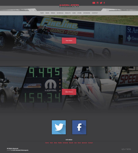 2015 Nicoletti Motorsports NHRA Drag Racing Team Website Design - Walters Web Design