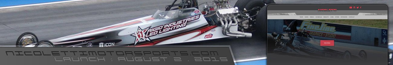 Nicoletti Motorsports Drag Racing Driver Website Design - Walters Web Design