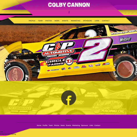 2016 Colby Cannon Dirt Racing Website - Walters Web Design