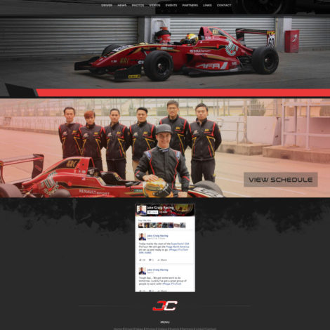 2016 Jake Craig Racing Formula Car Website - Walters Web Design