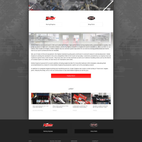 2016 kistler engines website design - walters web design