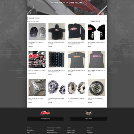 2016 kistler racing products online store website design - walters web design