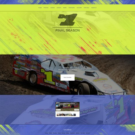2016 Lance Dehm Racing Dirt Mod Website - Walters Web Design