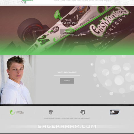 2016 Sage Karam Indycar Driver Website Design - Walters Web Design