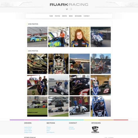 Ruark Racing Team Quarter Midget Website Design - Walters Web Design